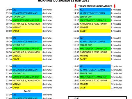 LKGE #1 - Liste des Inscrits et Horaires du Samedi pour Mirecourt