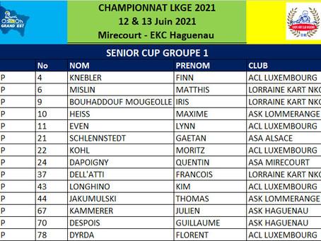 LKGE 2021 #1 - Groupes 1 et 2 pour les Chronos en Senior Cup