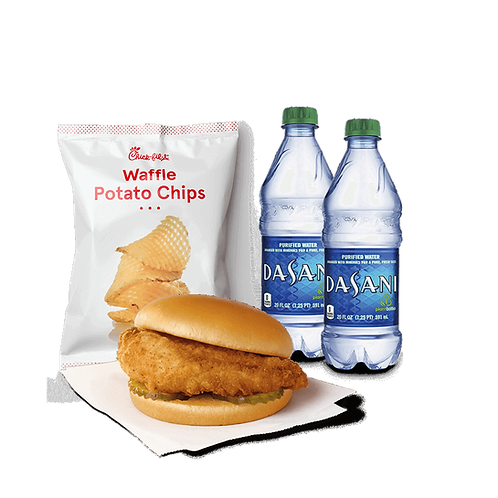 Chik-fil-A Sandwich with Chips
