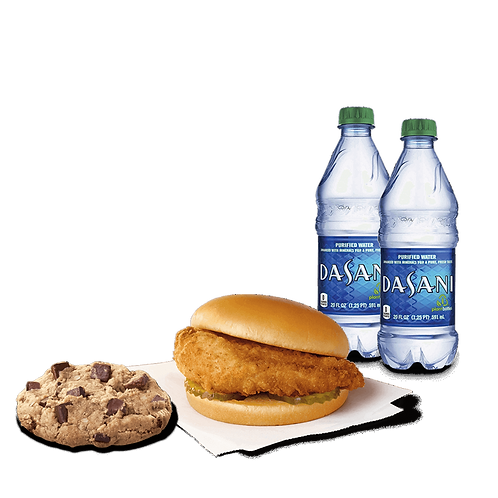 Chik-fil-A Sandwich with Cookie