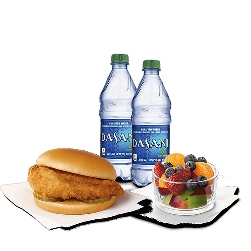 Chik-fil-A Sandwich with Fruit Cup