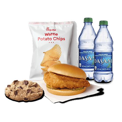 Chik-fil-A Sandwich Chips and Cookie