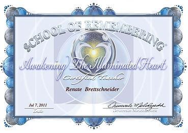 ATIH Teacher Training certificate ~ 2011