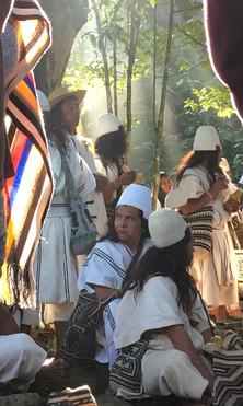 Morning meeting with Arhuaco Mamos ~Village of Seykun. Sept 2018.