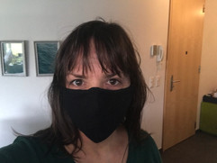 With a mask