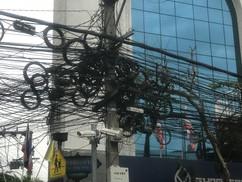 Bangkok electric wires