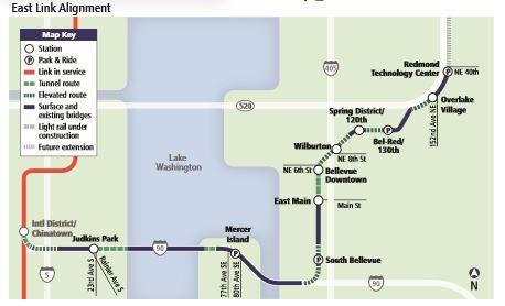 Sound Transit East Link Extension E360