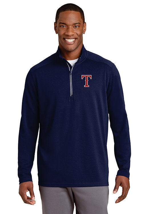 Mens dry fit Quarter zip - Embroidery only