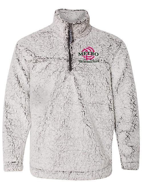 Boxercraft - Unisex Sherpa Fleece Quarter-Zip Pullover with Embroidery