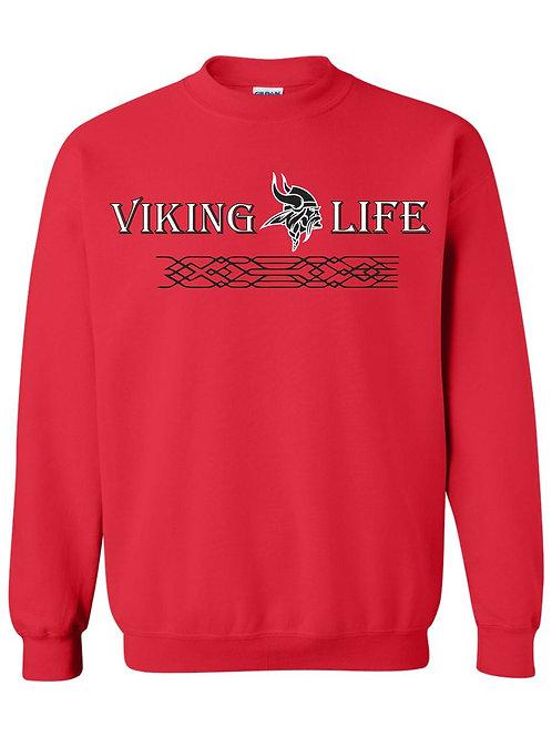 Red NP Viking Life Crewneck Sweatshirt