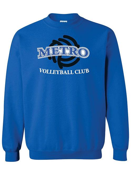 Blue Cotton Crew Neck Sweatshirt   DESIGN A