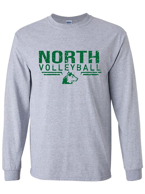 North Volleyball Gildan Long Sleeve Tee