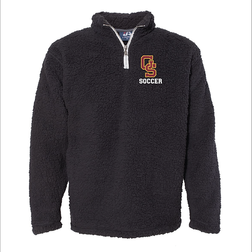 GS Soccer Boxercraft - Unisex Sherpa Fleece Quarter-Zip Pullover with Embroidery