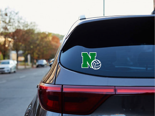 North Volleyball Car Decal