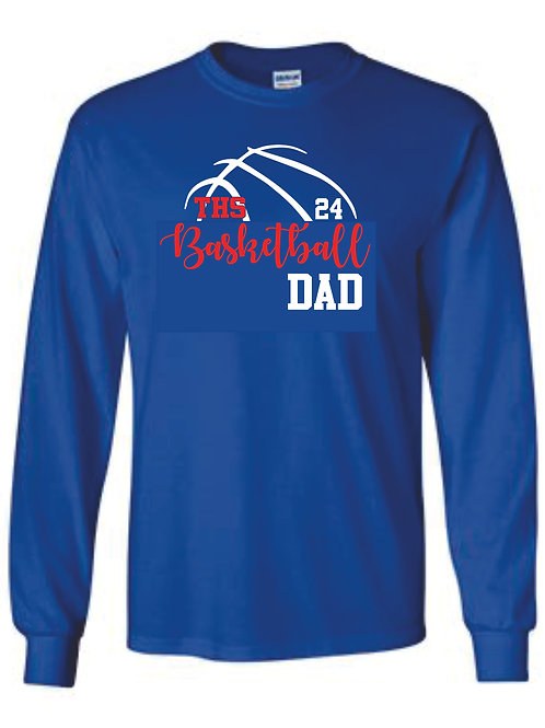 Long Sleeve tee - DAD w/ number option