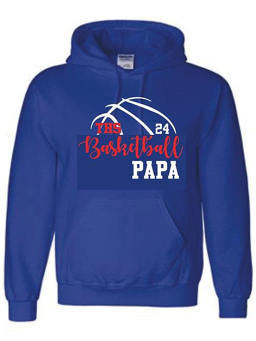 Hooded Sweatshirt - PAPA w/ number option