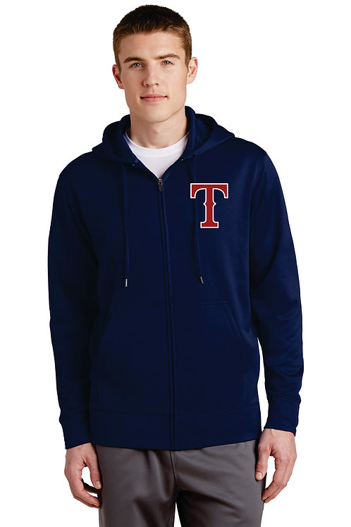 Mens Full Zip Fleece with hood- Embroidery only