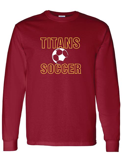 Titans Soccer Gildan Long Sleeve Tee
