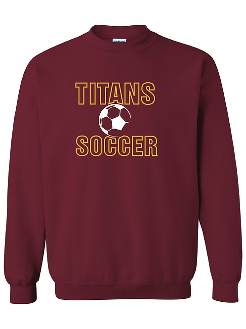 Titans Soccer Gildan Unisex Crewneck Sweatshirt