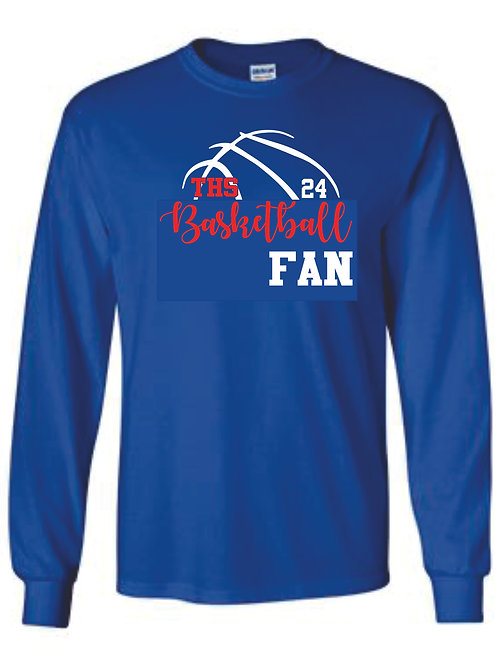 Long Sleeve tee - FAN w/ number option