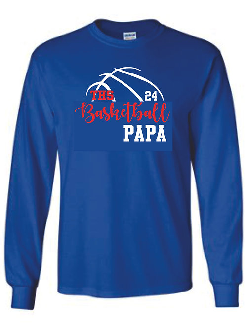 Long Sleeve tee - PAPA w/ number option