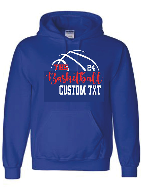 Hooded Sweatshirt Custom Text w/ number option