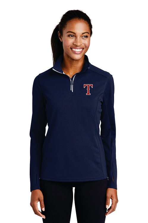 Ladies dry fit Quarter zip - Embroidery only