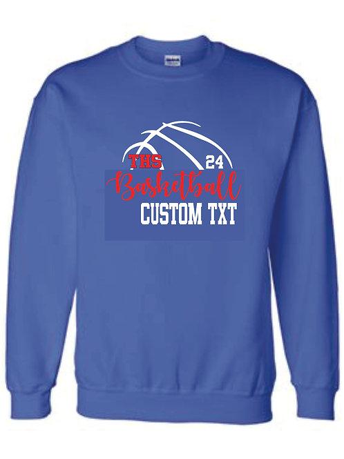 Crewneck Sweatshirt Custom Text w/ number option