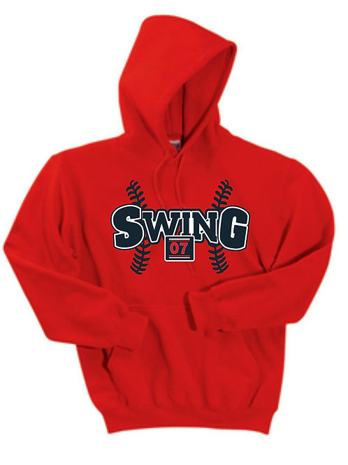 Red Hooded Sweatshirt, Cotton with logo