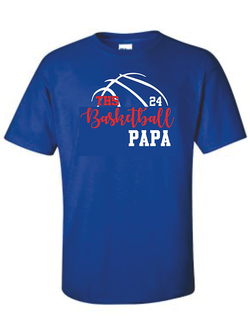 Tee - PAPA with number option