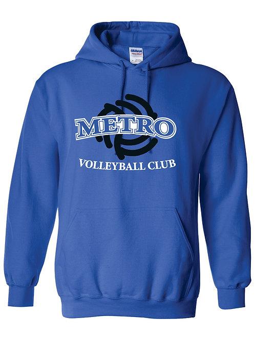 Blue Cotton Hooded Sweatshirt   DESIGN A