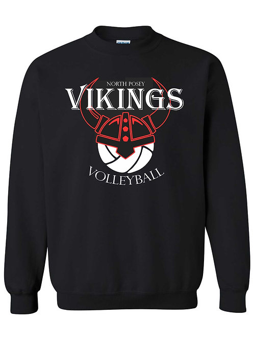 Black Volleyball Crewneck Sweatshirt