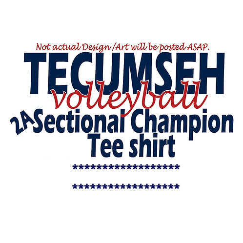 2020 Sectional Champions short sleeve Tee - Full cut