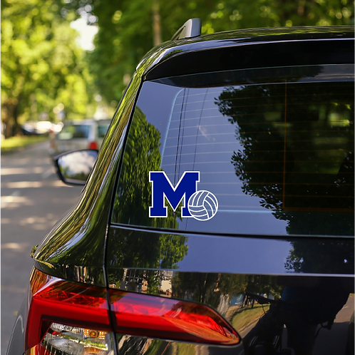 Memorial Volleyball Car Decal