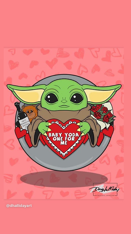 Baby Yoda One For Me 8x10
