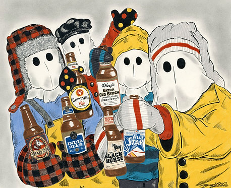 Cheers to Mummers-Canvas Edition
