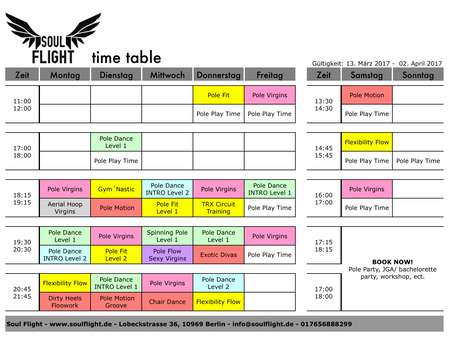 *NEW term * NEW schedule * NEW classes