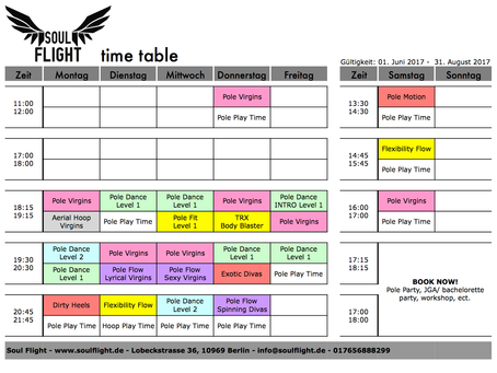 *NEW schedule**MORE play times