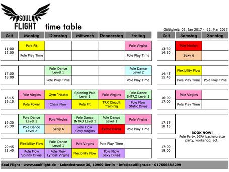 *NEW* time table - gültig ab 02.Jan - 12.Mar 2017