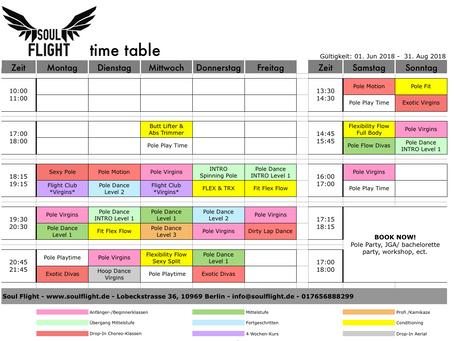 ***NEW Schedule*NEUER Stundenplan***