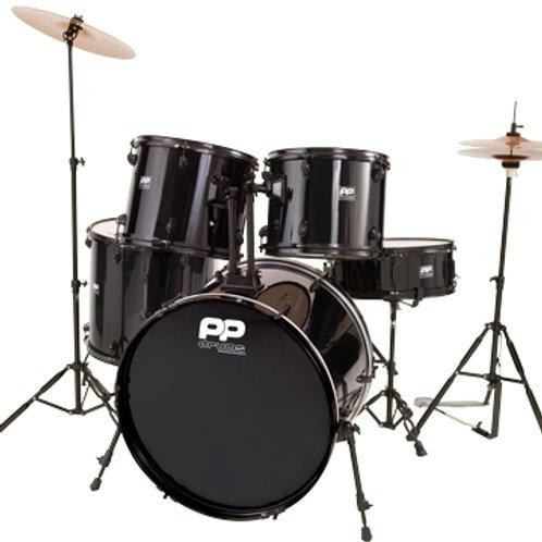 Full Size 5pc Drum Kit - Black Hardware