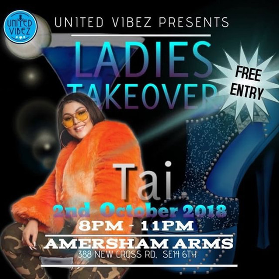 Tai to perform at Amersham Arms for Ladies Night