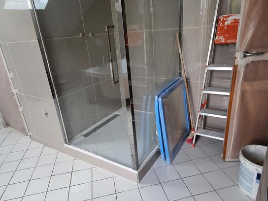 Nouveau chantier: salle de bains, 10 jours
