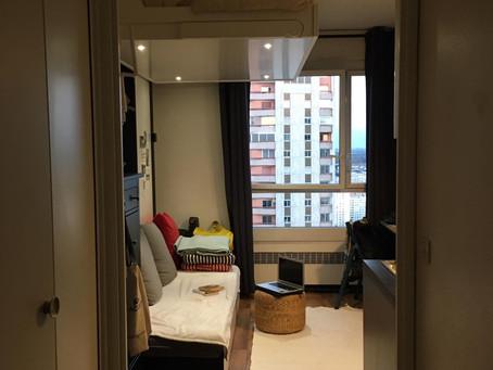Agencement d'un studio de 14 m/carré pour paraitre plus grand et plus fonctionnel