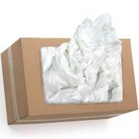 1 Carton de chiffons blanc recyclé 5 kg.