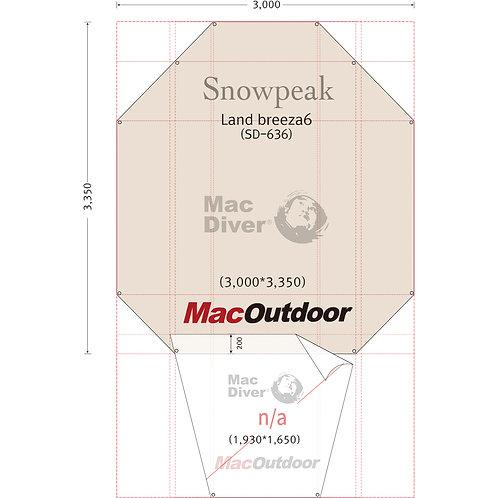 snowpeak ランドブリーズ 6 SD-634 インナー用 グランドシート Fire Proof