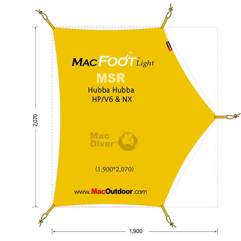 MSR ハバハバNX 一体型 グランドシートMacfoot Light