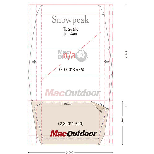 snowpeak タシーク TP-640 Fire Proof インナー用