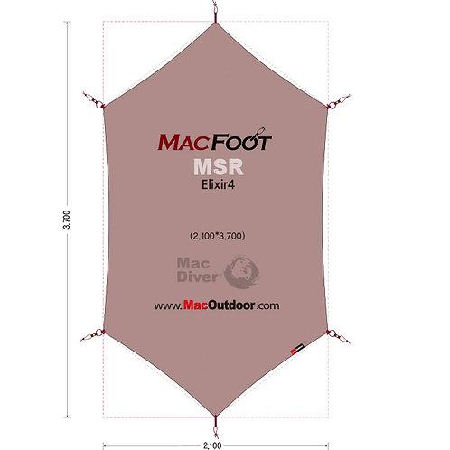 MSR エリクサー4 一体型 グランドシート MacFoot