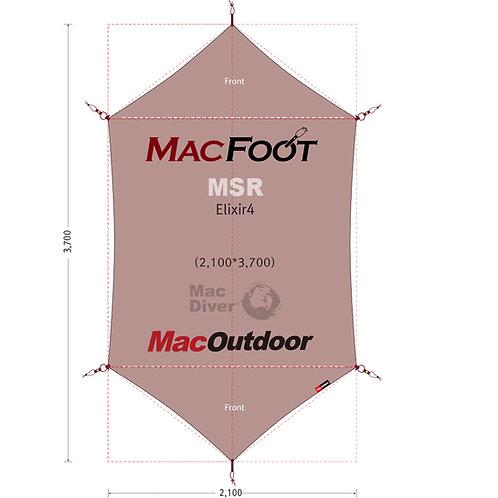 MSR エリクサー4 一体型 グランドシートMac Foot